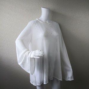 Wildfox Medium Sheer White Taylor Tunic